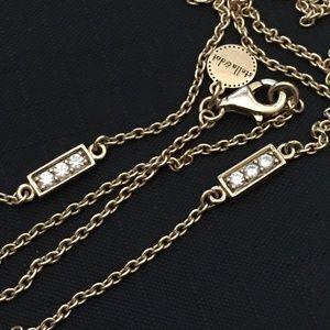 """Stella & Dot 925 Gold on Sterling 28.5"""" Necklace"""